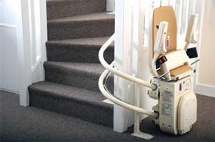 Platinum Curved Stairlift Folded